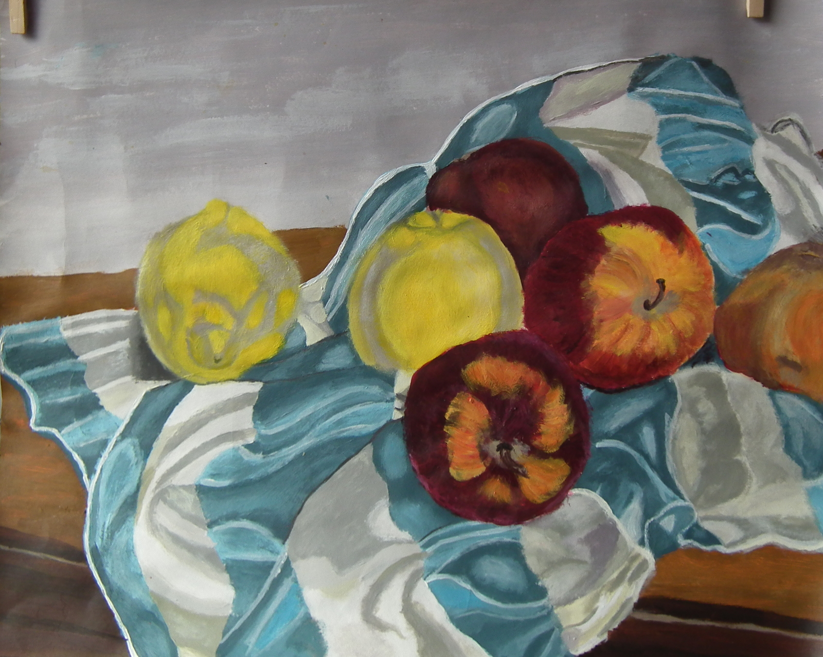 2018 Nature morte pommes citrons Lempicka